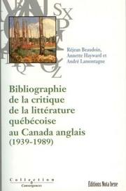 Cover_Bibliographie de la critique